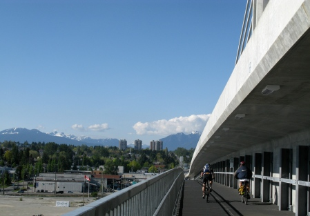 TransLink Provided all the funding for the Bicycle and Pedestrian Path on the Canada Line Bridge